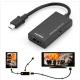 Cabo Micro USB + Adaptador Tipo C to HDMI - MHL to H