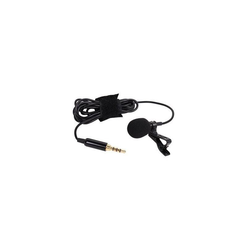 Microfone de Lapela com Mola - Microfone para Entrevista para iOS e Android - Goeik
