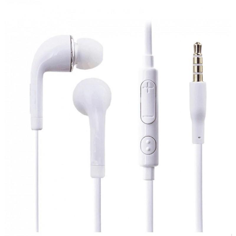 Fones de ouvido, com fio e microfone incluídos-J5-Brancos