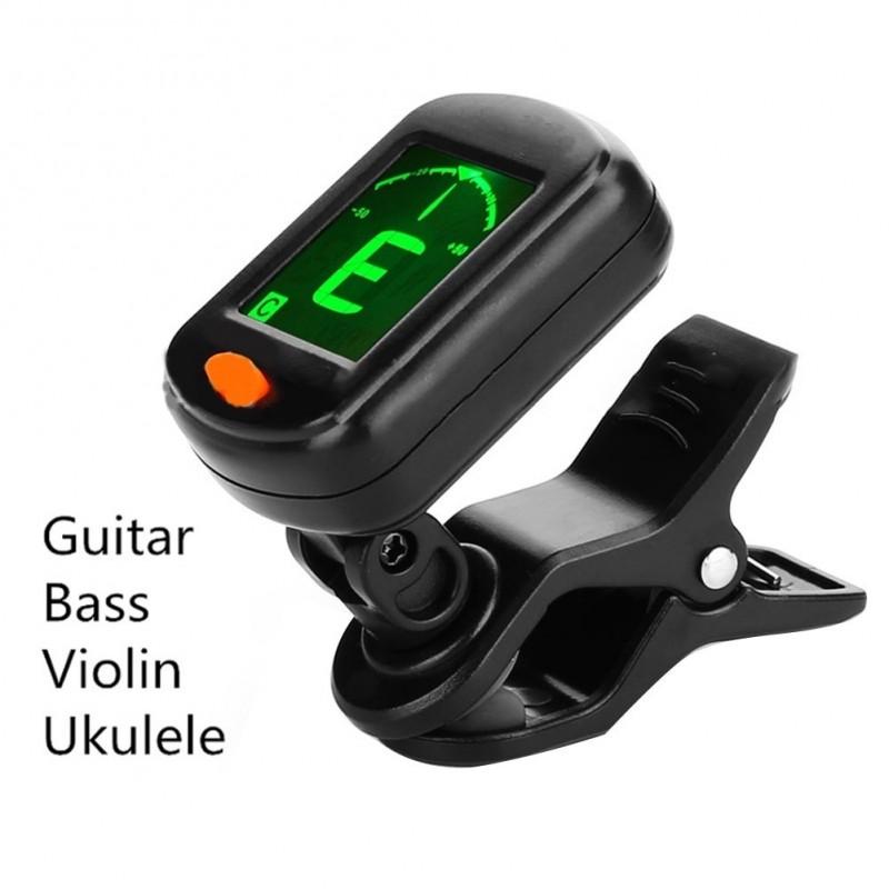 Afinador Sintonizador Digital de Tipo Elétrico de Alta Sensibilidade Rotativo com Clipe