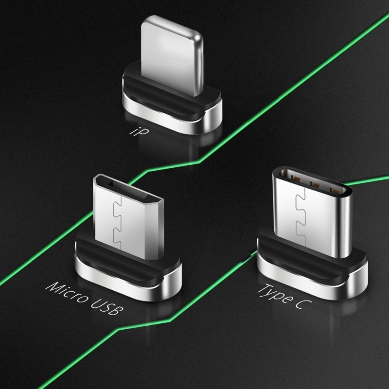 Ponta magnética  Micro USB para cabo USB magnético
