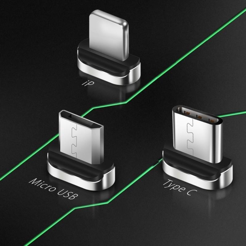 Ponta magnética Lightning Iphone para cabo USB magnético