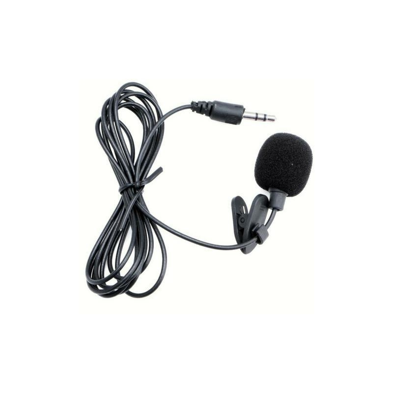 Microfone de Lapela - Microfone para entrevista para iOS e Android - Goeik