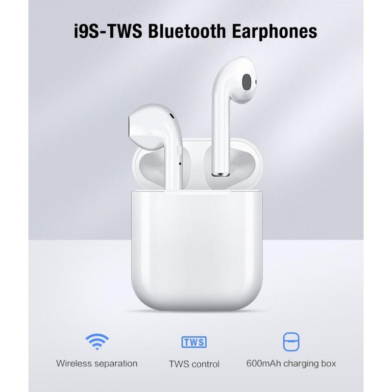 Fones Goeik de ouvido Bluetooth - s/fio - Caixa I9 TWS Apple earbuds - Branco
