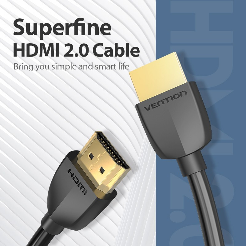 Cabo HDMI de 1, 2 e 3 metros - Preto - Vention