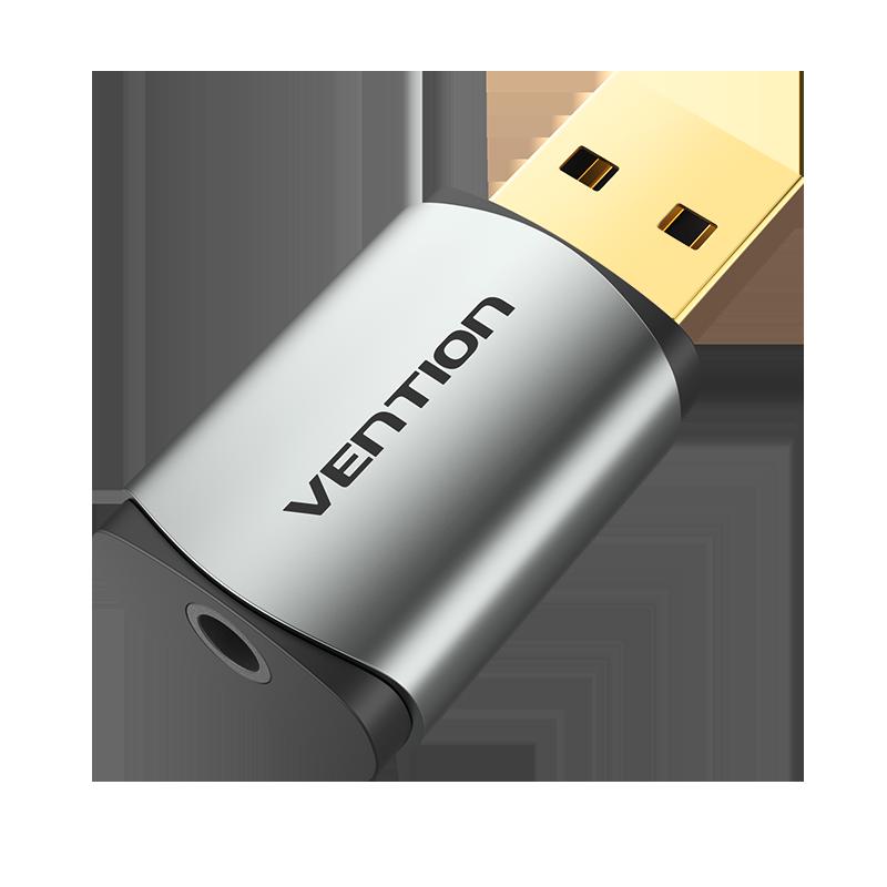 Adaptador Placa de som USB externa para Jack 3.5mm Fêmea - Vention