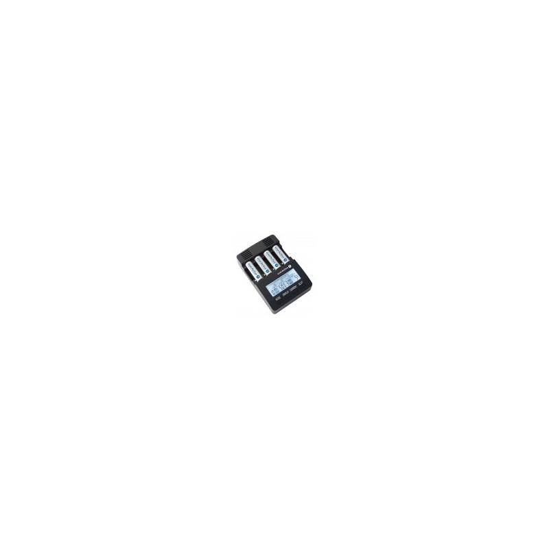Carregador p/ 1-4 baterias de AA/AAA NiMH com LCD - everActive