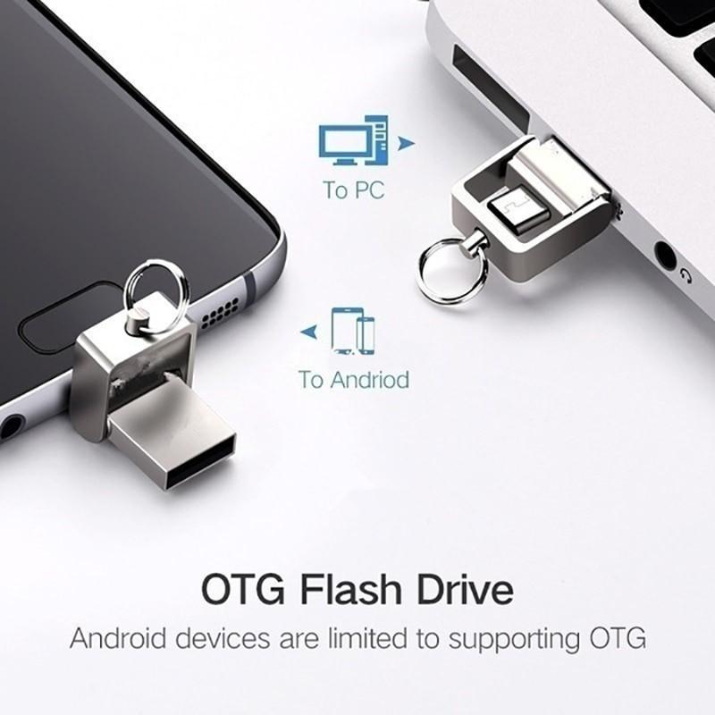 Pen USB e Micro USB de 32 GB em metal, para PC e Telemóvel - Goeik