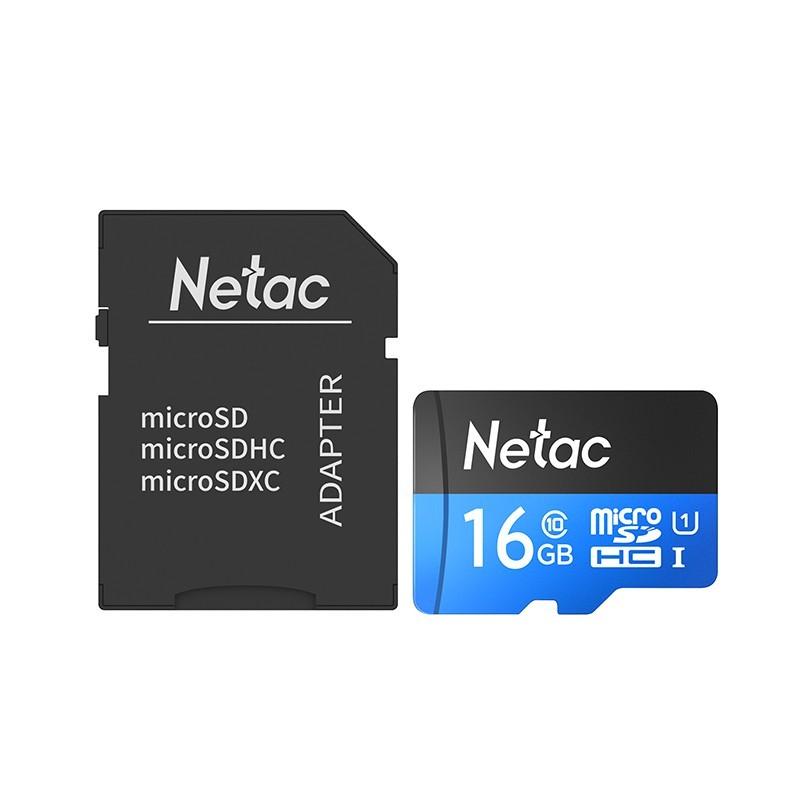 Cartão Micro SD Netac, de 16GB, com adaptador