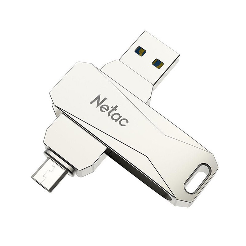 Pen Drive USB 3.0 + Micro USB 2.0 U381 Netac, de 32 a 128GB