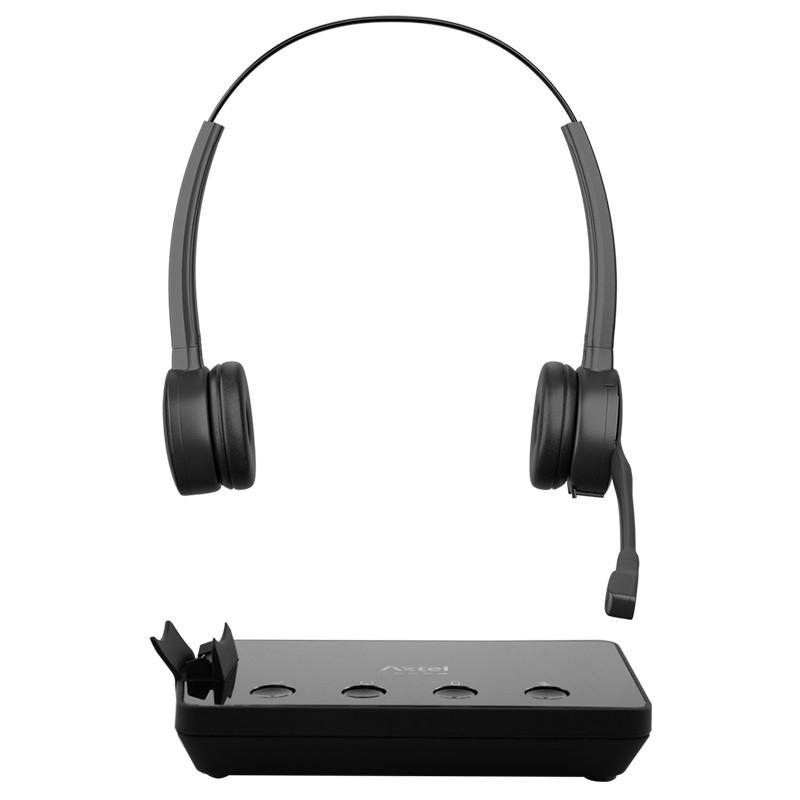 Headset Prime X3 Duo Personalizado para Telefone Fixo com Conexão Wireless, USB e Bluetooth - Axtel