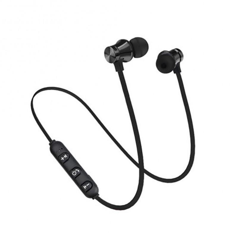 Fones de Ouvido Bluetooth-s/fio Magnét-Pretos-Curv
