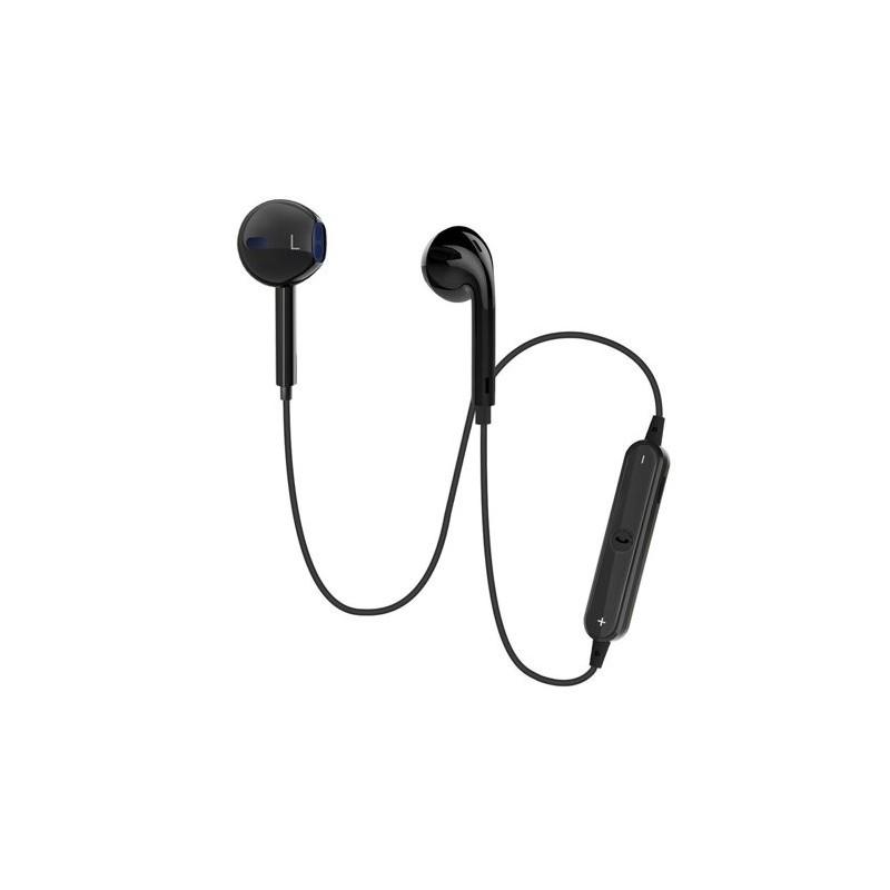 Fones de ouvido Bluetooth-s/fio-tipo Apple-Pretos