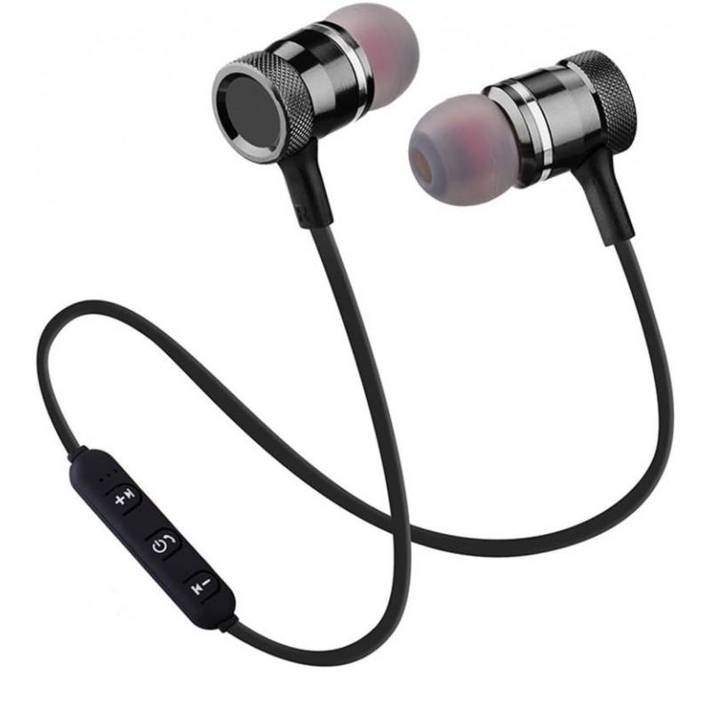 Fones de Ouvido Bluetooth-s/fio Magnéticos-Pretos